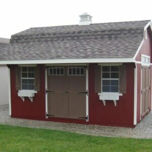 Classic Small Barn with overhang