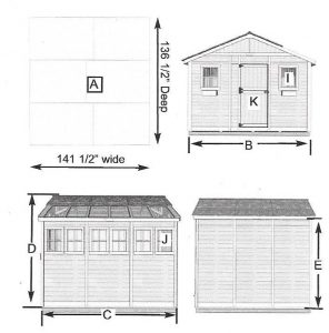 Sunshed 8 x 12 specifications